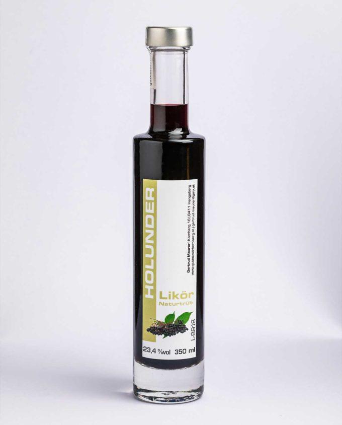Holunder Likör - sauber, fruchtig, beeriger Geschmack mit leichter Karamellnote © Werner Krug